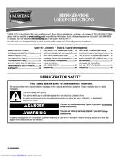 Maytag MFI2269VEB - 22.0 cu. Ft. Refrigerator Manuals on