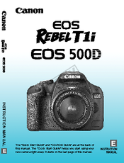 Eos rebel t1i 500d manual.