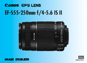 Canon EF-S 55-250mm f/4-5.6 IS Instruction