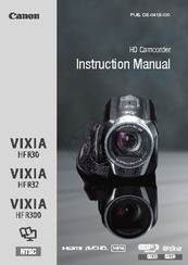 Canon VIXIA HF R30 Instruction Manual