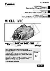 canon vixia hv40 instruction manual pdf download rh manualslib com Canon VIXIA HF R20 Canon VIXIA HF G10