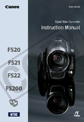 Canon FS200 - Camcorder - 680 KP Instruction Manual