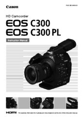 Canon EOS C300 Instruction Manual