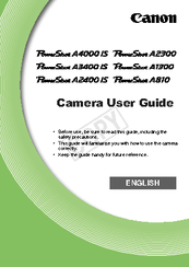canon powershot a1300 manuals rh manualslib com canon powershot a1300 user manual Canon PowerShot A810