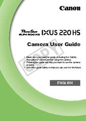 canon powershot elph 300 hs user manual pdf download rh manualslib com Canon ELPH 300 HS Specifications canon powershot elph 300 hs camera user guide