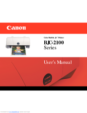 Canon BJC-2100 Series User Manual