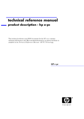 HP e-pc s10 Technical Reference Manual