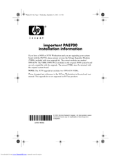 HP c3700 - Workstation Install Manual