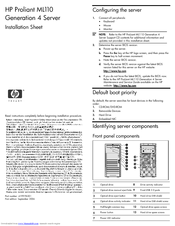 HP ProLiant ML110 Installation Sheet