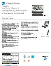 hp touchsmart 520 1030 manuals rh manualslib com HP TouchSmart 520 PC USB Port Beats Audio HP TouchSmart 520 PC