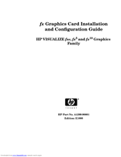 HP Visualize J5600 Install Manual