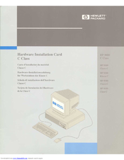 HP Visualize c180 Hardware Installation Manual
