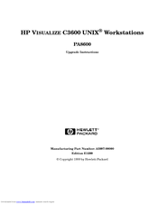 HP Visualize b1000 - Workstation Upgrade Instructions
