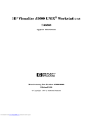 HP Visualize J5600 Upgrade Instructions