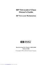 HP Visualize J7000 Owner's Manual