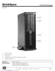 HP WORKSTATION Z210 SFF SPECIFICATION Pdf Download