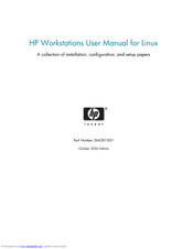 HP Workstation xw6000 User Manual