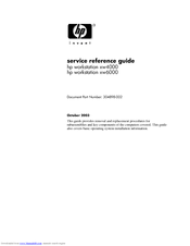 HP Workstation xw6000 Service & Reference Manual