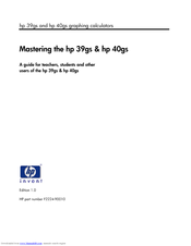 HP 39gs Master Manual