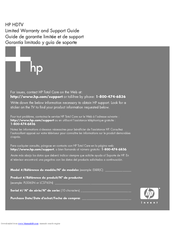 HP EX8RJC Limited Warranty And Support Manual
