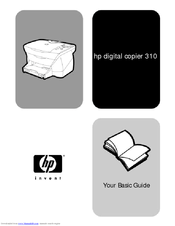 HP C8431A - Digital Copier 310 Color Inkjet Basic Manual