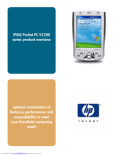 HP iPAQ h2200 Series Product Overview