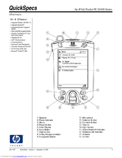 HP iPAQ Pocket PC h5400 Series Specifications