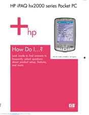 HP iPAQ hx2100 - Pocket PC Frequently Asked Questions Manual