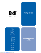 HP Jetdirect 280m - 802.11b Wireless Print Server Administrator's Manual