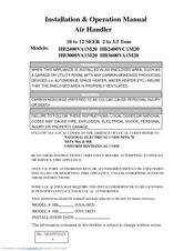 HAIER HB2400VA1M20 INSTALLATION & OPERATION MANUAL Pdf Download. on