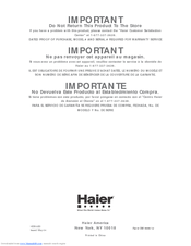 Haier HDB18EBS User Manual