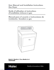 Haier GDG900AW User Manual And Installation Instructions