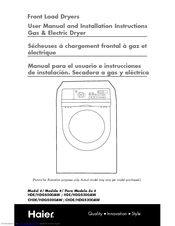 Haier CHDG5000AW User Manual And Installation Instructions