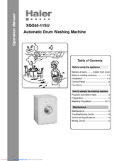 Haier XQG6511SU - Front-Load Washer/Dryer Combo User Manual