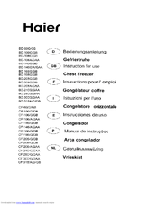 Haier CF-208GB Instructions For Use Manual