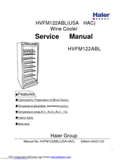 Haier HVFM122ABL Manuals on