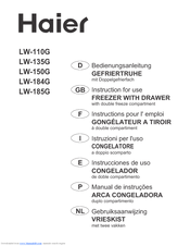 Haier LW-110 Instructions For Use Manual