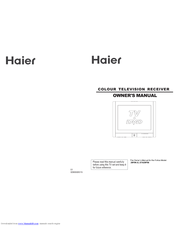Haier 29F9K-D Owner's Manual