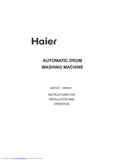 Haier HM501 Instructions For Installation And Operation Manual