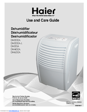 Haier DE45EJ-T Use And Care Manual