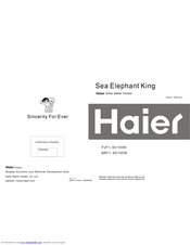 Haier Sea Elephant King PJF1-100W User Manual