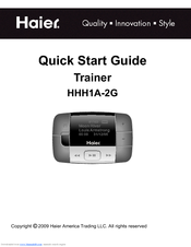 Haier HHH1A-2G Quick Start Manual
