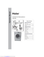 haier hwd1000 1 7 cu ft washer dryer combo manuals rh manualslib com haier washer dryer combo troubleshooting Washer and Dryer Clip Art