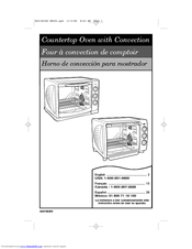 Hamilton Beach 31197 User Manual 40 Pages Countertop Oven With Convection