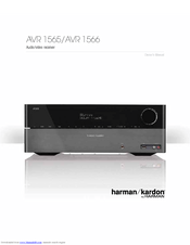harman kardon avr 1565 owner s manual pdf download rh manualslib com  harman kardon avr 1565 owners manual