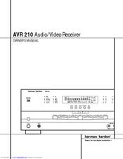 harman kardon avr 210 owner s manual pdf download rh manualslib com harman kardon avr 210 manual Harman Kardon AVR 3700