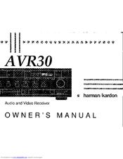 HARMAN KARDON AVR 30 OWNER'S MANUAL Pdf Download. on
