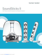 harman kardon soundsticks ii manuals rh manualslib com harman kardon soundsticks iii manual pdf harman kardon soundsticks ii notice