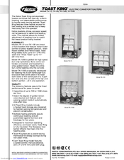 Hatco Toast-Max TM-5H Installation & Operating Manual