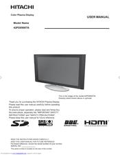 hitachi 42pd8900ta manuals rh manualslib com Hitachi Ultravision Lamp Replacement Hitachi Ultravision Lamp Replacement